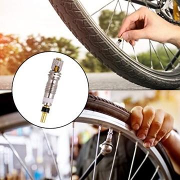 FAM STICKTILES 17-Teile Sclaverandventil, Fahrrad Ventil-Adapter, Fahrrad-Ventilkappen und Ventileinsatz - 3