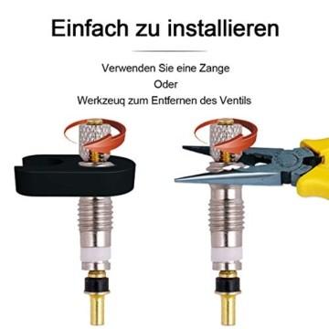 FAM STICKTILES 17-Teile Sclaverandventil, Fahrrad Ventil-Adapter, Fahrrad-Ventilkappen und Ventileinsatz - 4