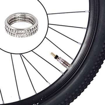 FAM STICKTILES 17-Teile Sclaverandventil, Fahrrad Ventil-Adapter, Fahrrad-Ventilkappen und Ventileinsatz - 5