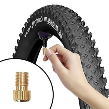 FAM STICKTILES 17-Teile Sclaverandventil, Fahrrad Ventil-Adapter, Fahrrad-Ventilkappen und Ventileinsatz - 6