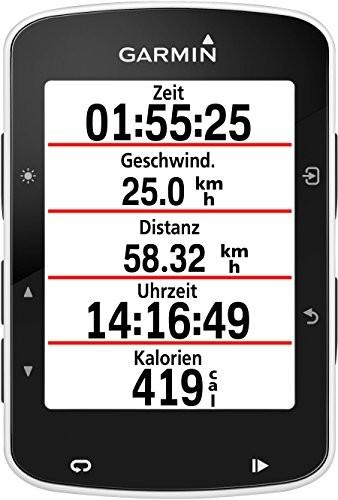 Garmin Edge 520 - GPS-Fahrradcomputer für ambitionierte Rennfahrer mit 2,3 Zoll (5,8 cm) Farbdisplay und Strava Live Segmenten (Generalüberholt) - 2