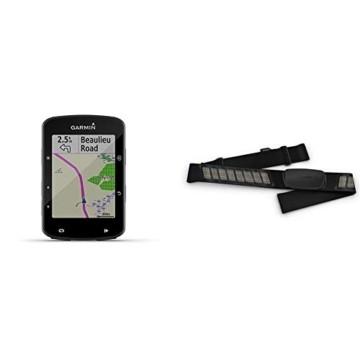"""Garmin Edge 520 Plus GPS-Fahrradcomputer - Navigationsfunktionen, Europakarte, 2,3"""" Display & Premium-Herzfrequenz-Brustgurt Dual Basic, Herzfrequenzdaten in Echtzeit - 1"""