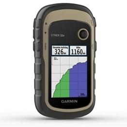 """Garmin eTrex 32x-robustes, wasserdichtes GPS-Outdoor-Navi mit 2,2"""" (5,6 cm) Farbdisplay mit Tastenbedienung, Barometer, Kompass, ANT+, vorinstallierter TopoActive-Europakarte und 25 Std Akkulaufzeit - 1"""