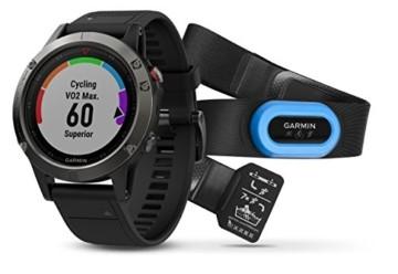 Garmin Fenix 5 Tragbarer Performer Bundle/Premium HRM-Run Brustgurt grau/schwarz 2017 Fahrradcomputer mit Herzfrequenzmesser - 1