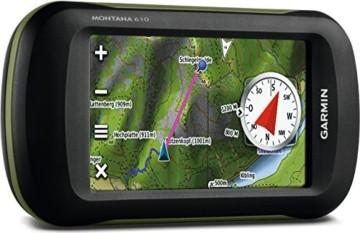 Garmin Montana 610 Outdoor-Navigationsgerät mit hochauflösendem 4'' Touchscreen-Display und ANT+ Konnektivität - 2