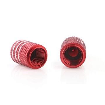 GLL 4pcs Rot Reifen Ventilkappen Universal Spindelabdeckungen für Autos, SUVs, Fahrräder und Fahrräder, LKWs, Motorräder, Schwerlast, Luftdichte Dichtung, Anschraubbare, Griffige Verwendung - 5