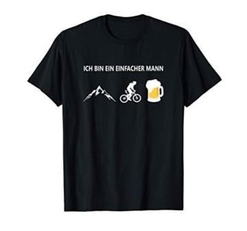 Herren Ich bin ein einfacher Mann T.Shirt Fahrrad Berge Bier T-Shirt - 1