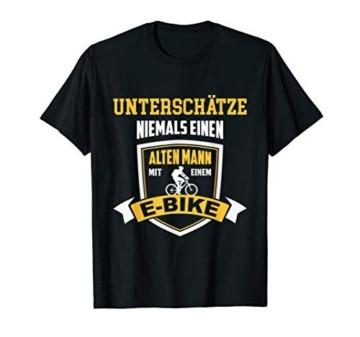 Herren T-Shirt E-Bike Fahrrad E Bike Elektrofahrrad Mann Spruch - 1