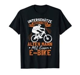 Herren Unterschätze niemals einen alten Mann - Lustiges E Bike T-Shirt - 1