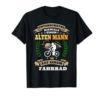 Herren Unterschätze niemals einen Alten Mann mit Fahrrad T-Shirt - 1