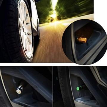 JiangLin Autoreifen-Ventilkappen, 20 Universal Schaftabdeckungen für PKW, SUVs, Fahrrad und Fahrrad, LKW, Motorräder, Easy-Grip-Einsatz - 2