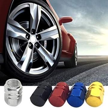 JiangLin Autoreifen-Ventilkappen, 20 Universal Schaftabdeckungen für PKW, SUVs, Fahrrad und Fahrrad, LKW, Motorräder, Easy-Grip-Einsatz - 3
