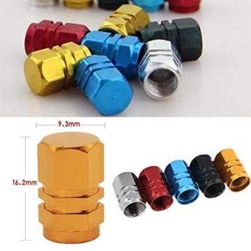 JiangLin Autoreifen-Ventilkappen, 20 Universal Schaftabdeckungen für PKW, SUVs, Fahrrad und Fahrrad, LKW, Motorräder, Easy-Grip-Einsatz - 4
