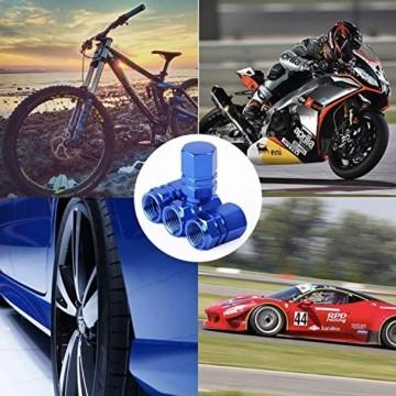 JiangLin Autoreifen-Ventilkappen, 20 Universal Schaftabdeckungen für PKW, SUVs, Fahrrad und Fahrrad, LKW, Motorräder, Easy-Grip-Einsatz - 6