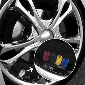 JiangLin Autoreifen-Ventilkappen, 20 Universal Schaftabdeckungen für PKW, SUVs, Fahrrad und Fahrrad, LKW, Motorräder, Easy-Grip-Einsatz - 7