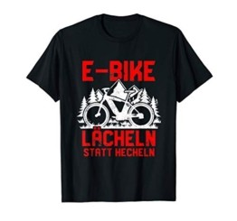"""Lächeln statt hecheln"" | Lustiger Spruch Fahrrad E-Bike T-Shirt - 1"