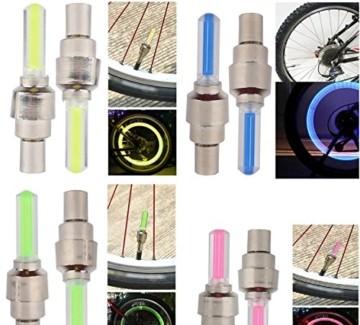 LED Ventil Kappen, Reifen Beleuchtung, Speichen Licht, für Fahrrad Felgen Auto Bike Valve Caps - 3