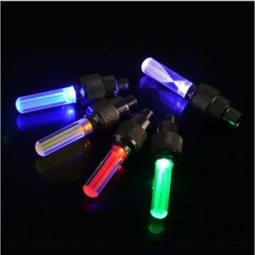 LED Ventil Kappen, Reifen Beleuchtung, Speichen Licht, für Fahrrad Felgen Auto Bike Valve Caps - 7
