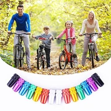 MICGEEK 14 Stücke Ventilkappen Fahrrad, Fahrradventil Kappe Fahrrad Ventilkappen Französisch Mehrfarbig Presta Ventilkappen - 5