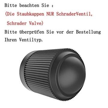 PPpanda Ventilkappen 36St Reifenventil Staubkappen Staubdichte Reifenkappe für Auto, Motorrad, LKW, Fahrrad und Fahrrad (NUR Schraderventil Schrader Valve) 36St, Schwarz - 2
