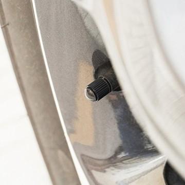 PPpanda Ventilkappen 36St Reifenventil Staubkappen Staubdichte Reifenkappe für Auto, Motorrad, LKW, Fahrrad und Fahrrad (NUR Schraderventil Schrader Valve) 36St, Schwarz - 7