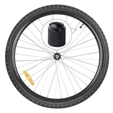 Reifenventilkappen, Kunststoff, Staubschutzkappen für PKW-Reifen, mit Dichtungsring für SUV, Motorrad, LKW, Fahrrad, Schwarz, 8 Stück - 3