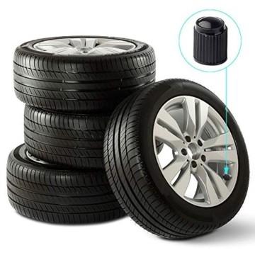 Reifenventilkappen, Kunststoff, Staubschutzkappen für PKW-Reifen, mit Dichtungsring für SUV, Motorrad, LKW, Fahrrad, Schwarz, 8 Stück - 6