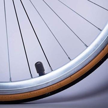 Reifenventilkappen, Kunststoff, Staubschutzkappen für PKW-Reifen, mit Dichtungsring für SUV, Motorrad, LKW, Fahrrad, Schwarz, 8 Stück - 7