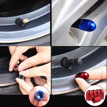 Senven 25 Pcs hochwertige Farb-Ventilkappen, Aluminium-Ventilkappen, Reifenventil-Staubkappen Auto, Motorrad, LKW, Fahrrad verhindern Luftleckage - Universal-Reifenventilkappen - 2