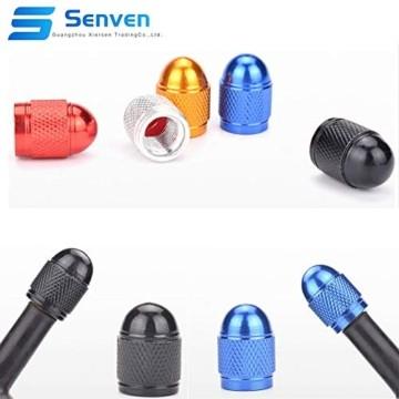 Senven 25 Pcs hochwertige Farb-Ventilkappen, Aluminium-Ventilkappen, Reifenventil-Staubkappen Auto, Motorrad, LKW, Fahrrad verhindern Luftleckage - Universal-Reifenventilkappen - 3