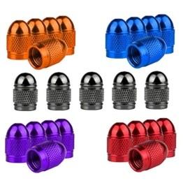 Senven 25 Pcs hochwertige Farb-Ventilkappen, Aluminium-Ventilkappen, Reifenventil-Staubkappen Auto, Motorrad, LKW, Fahrrad verhindern Luftleckage - Universal-Reifenventilkappen - 1