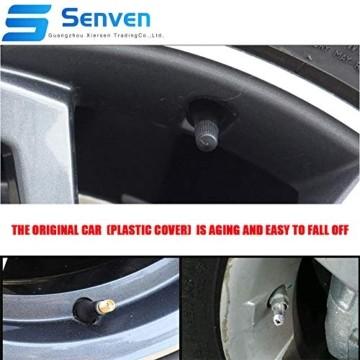Senven 25 Pcs hochwertige Farb-Ventilkappen, Aluminium-Ventilkappen, Reifenventil-Staubkappen Auto, Motorrad, LKW, Fahrrad verhindern Luftleckage - Universal-Reifenventilkappen - 5