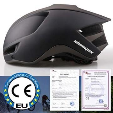 Shinmax Fahrradhelm,Fahrradhelm Herren,CE Zertifikat,Fahrradhelm mit Abnehmbarer Magnetische Visier,Fahrradhelm mit Reflektierende Sicherheitsseilschnalle & Wiederaufladbar LED-licht 60-64CM(RC-088) - 6