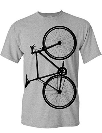 T-Shirt: Fixie Bike - Fahrrad Geschenke für Damen & Herren - Radfahrer - Mountain-Bike - MTB - BMX - Fixie - Rennrad - Tour - Outdoor - Sport - Urban - Motiv - Spruch - Fun - Lustig (M) - 2