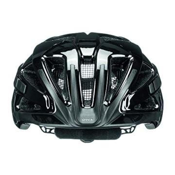 Uvex Unisex– Erwachsene, active Fahrradhelm, black shiny, 52-57 cm - 2