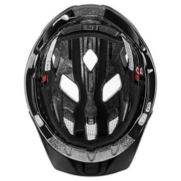 Uvex Unisex– Erwachsene, active Fahrradhelm, black shiny, 52-57 cm - 4
