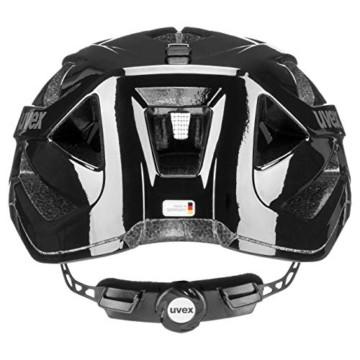 Uvex Unisex– Erwachsene, active Fahrradhelm, black shiny, 52-57 cm - 5