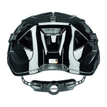 Uvex Unisex– Erwachsene, active Fahrradhelm, black shiny, 52-57 cm - 7