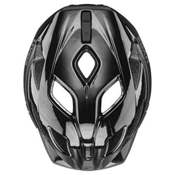 Uvex Unisex– Erwachsene, active Fahrradhelm, black shiny, 52-57 cm - 8