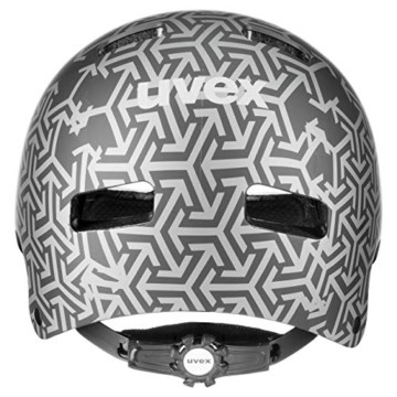 Uvex Unisex Jugend, kid 3 cc Fahrradhelm, black, 51-55 cm - 4