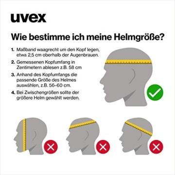 Uvex Unisex Jugend, kid 3 cc Fahrradhelm, black, 51-55 cm - 6