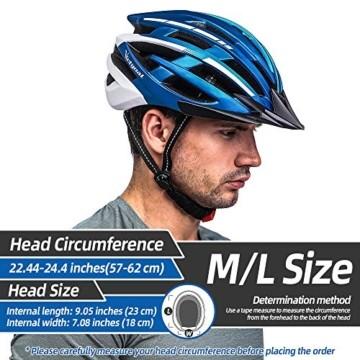 VICTGOAL Fahrradhelm mit Sicherheit LED Rear Light Mountain Bike Helm für Herren Damen Fahrradhelm mit Abnehmbares Visier Road Cycling Helm (Schwarz Rot) - 2