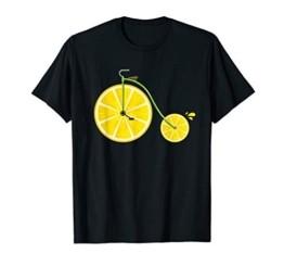 Zitronen Bike - Lustiges Lemon Fahrrad Rad Geschenk Motiv T-Shirt - 1