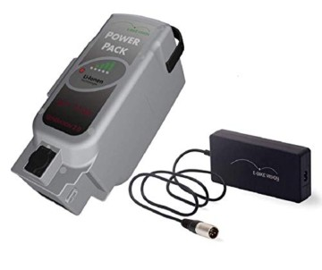 E-Bike Vision Power Pack Ersatzakku für Panasonic Antriebsystem 36V 17Ah 612 Wh + 4A Ladegerät AKKUman Set - 1