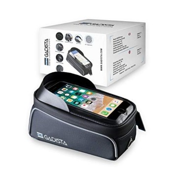 GADISTA® Frankreich, NEU Fahrrad Rahmentasche für Handy (6,5 Zoll) mit Touch ID-Handyhalterung Fahrrad Wasserdicht mit GPS - Fahrrad Tasche mit Stauraum Durch 4 Schnell Anzubringende Klettverschlüsse - 2