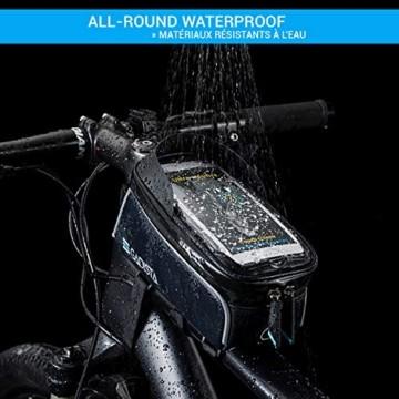 GADISTA® Frankreich, NEU Fahrrad Rahmentasche für Handy (6,5 Zoll) mit Touch ID-Handyhalterung Fahrrad Wasserdicht mit GPS - Fahrrad Tasche mit Stauraum Durch 4 Schnell Anzubringende Klettverschlüsse - 3