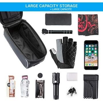 GADISTA® Frankreich, NEU Fahrrad Rahmentasche für Handy (6,5 Zoll) mit Touch ID-Handyhalterung Fahrrad Wasserdicht mit GPS - Fahrrad Tasche mit Stauraum Durch 4 Schnell Anzubringende Klettverschlüsse - 6