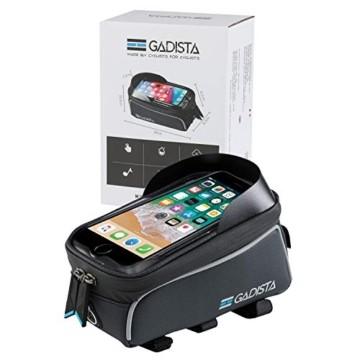 GADISTA® Frankreich, NEU Fahrrad Rahmentasche für Handy (6,5 Zoll) mit Touch ID-Handyhalterung Fahrrad Wasserdicht mit GPS - Fahrrad Tasche mit Stauraum Durch 4 Schnell Anzubringende Klettverschlüsse - 9