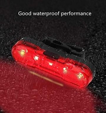 Geeke LED Fahrradrücklichter,StVZO Zugelassen IPX4 Wasserdicht Auflagbar Akku mit USB,hochintensive LED Rücklichter können an jedem Fahrrad oder Helm montiert Werden (2 Stück) - 4
