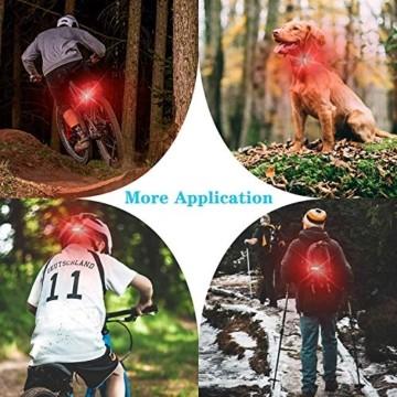 Geeke LED Fahrradrücklichter,StVZO Zugelassen IPX4 Wasserdicht Auflagbar Akku mit USB,hochintensive LED Rücklichter können an jedem Fahrrad oder Helm montiert Werden (2 Stück) - 7